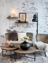 Mooie zwart metalen vloerlamp