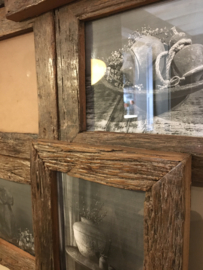 Mooie grote verzamellijst van oud hout