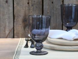 Wijnglas met bubbels grijs