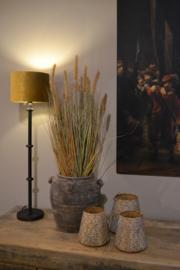 Kunst gras met pluim in pot