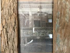 Prachtige fotolijst oud hout