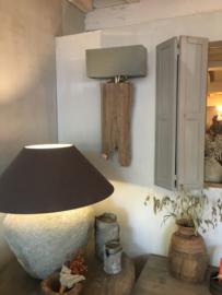 Prachtige wandlamp oud hout
