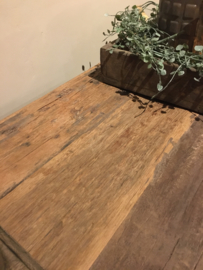 Stoer tvmeubel van oud hout 160 cm