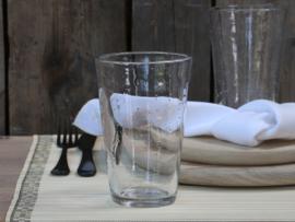 Drinkglas met bubbels helder groot