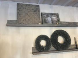 Houten muurprofiel vergrijsd hout 100 cm