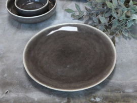 Mooi stenen dinerbord grijs