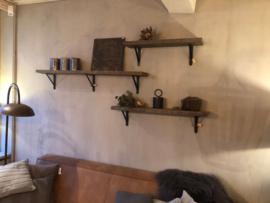 Stoere wandplank van oud hout 100 cm