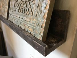 Houten muurprofiel vergrijsd hout 140 cm