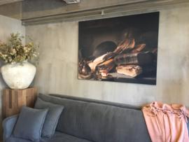 Prachtig schilderij canvas framed -Still life with Books-