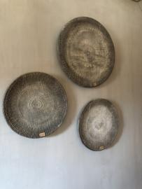 Mooie ronde wandborden grijs