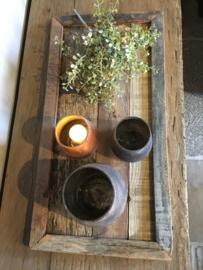 Stoer houten dienblad / tray