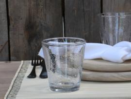 Drinkglas met bubbels helder klein