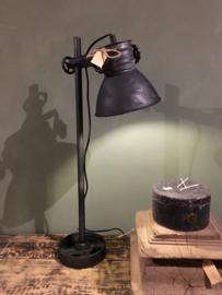 Stoere tafellamp zwarte spot