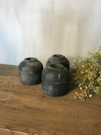 Leuke kleine houten potjes