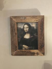 Prachtige fotolijst van oud hout