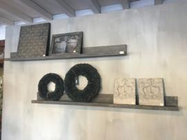 Houten muurprofiel vergrijsd hout 100 & 140 cm