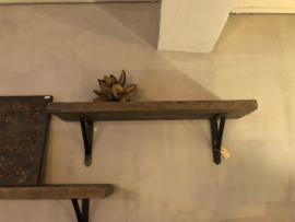 Stoere wandplank van oud hout 80 cm