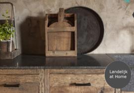 Mooie houten broodplanken in houder