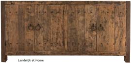 Stoer dressoir 4 deurs van doorleefd oud hout 180 cm