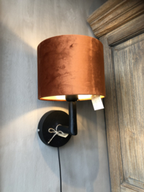 Leuk zwart wandlampje