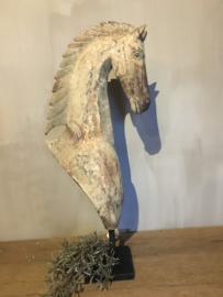 Prachtig uniek houten paard