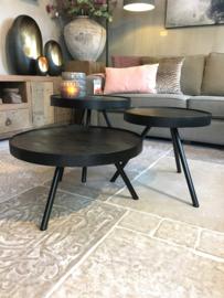 Leuke zwarte salontafels rond 50 cm