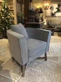 Stoer linnen fauteuil  met losse hoes ~ Kaat~