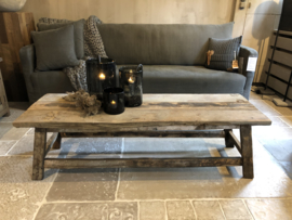 Salontafel van oud hout  120 x 70 cm