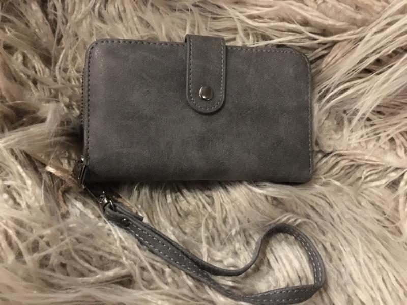 Portemonnee donker grijs