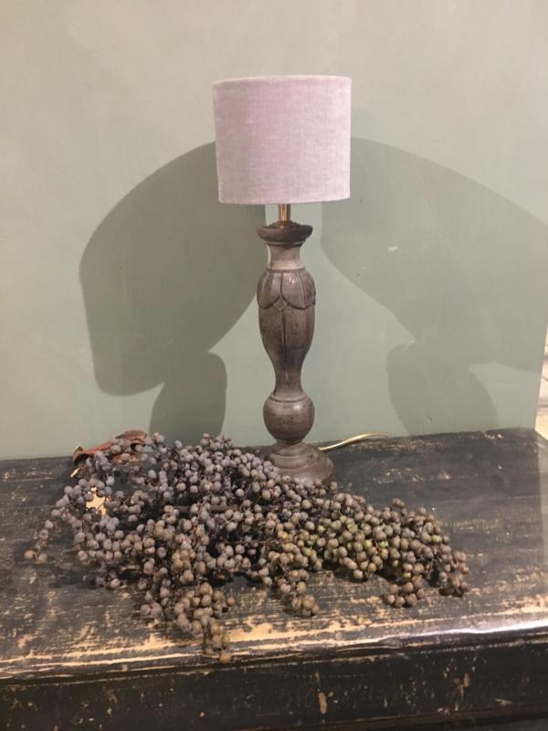 Mooie kleine tafellamp bruin