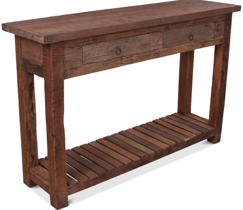 Hele gave sidetable van oud hout 140 cm