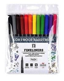 Koh-I-Noor fine-liner set 12 kleur - 0.3 mm punt