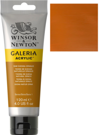 no.553 - Galeria Acrylic raw sienna opaque 120 ml tube