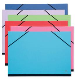 Clairfontaine tekenmap met elastiek 26x33 cm blauw