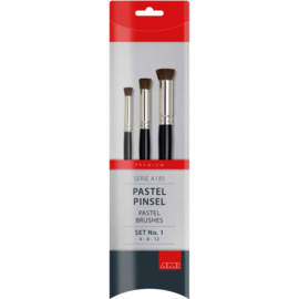 Sjabloon/pastel brush-set recht