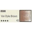 Pastelkrijt los nr. 43- Van Dijk brown