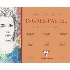 Clairefontaine Ingres Pastel Blok Wit  36x48cm