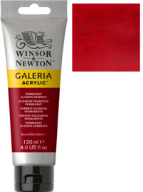no.466 - Galeria Acrylic perm. alizarin crimson 120 ml tube