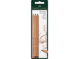 Faber-Castell pastelpotlood  3 stuks blister