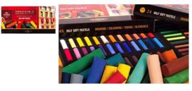 Soft Pastel Rond Set  24 halve pastels