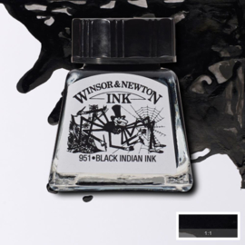 Winsor en Newton  Drawing Inkt Indian Black