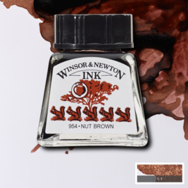 Winsor en Newton  Drawing Inkt Nut Brown