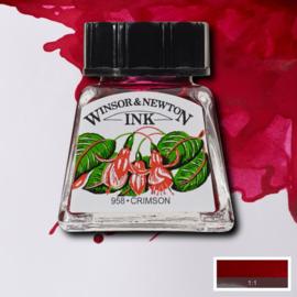 Winsor en Newton  Drawing Inkt Crimson