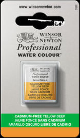 W&N Pro Water Colour ½ nap Cadmium FREE  Yellow Deep  S.4