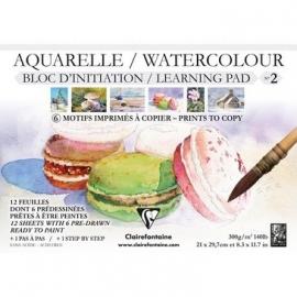 Clairefontaine Aquarelblok voor bedrukt A4