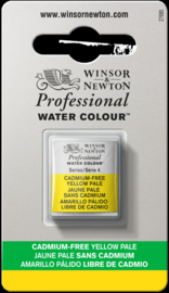 W&N Pro Water Colour ½ nap Cadmium FREE Yellow Pale  S.4