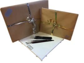 MusPaneel Cadeau Set Gold-line 25x35 met Mus penselen