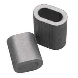 Knijpbusje  voor o.a. Perlonkoord & Staaldraad van max 2 mm dik