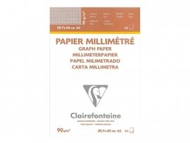 Clairefontaine millimeter papier blok 50 vel A4