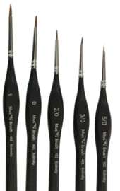 MusBrush Serie 401 round/fine Kolinsky Set 5 brushes